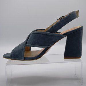 Sole Society Suede Block Heel Cross-Strap Sandals-